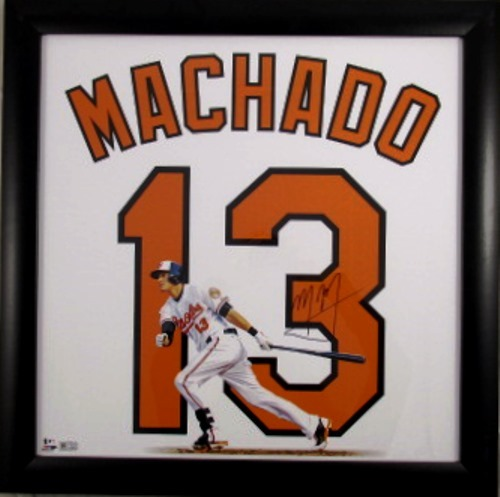 Photo of Manny Machado Autographed 20x20 Collage - *Framed*