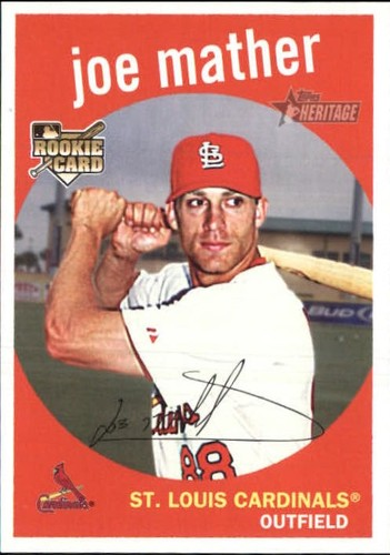 Photo of 2008 Topps Heritage #594 Joe Mather RC