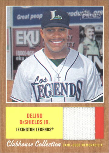Photo of 2011 Topps Heritage Minors Clubhouse Collection Relics #DDS Delino DeShields Jr.