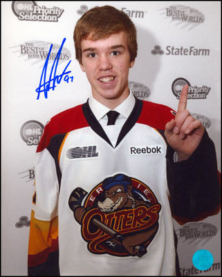 CONNOR McDAVID Erie Otters SIGNED 8x10 First Pick Photo