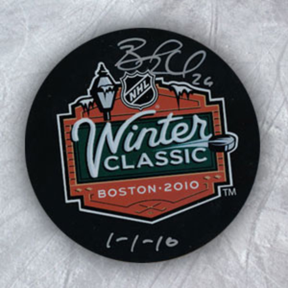 Blake Wheeler Boston Bruins Signed & Dated 2010 Winter Classic Puck