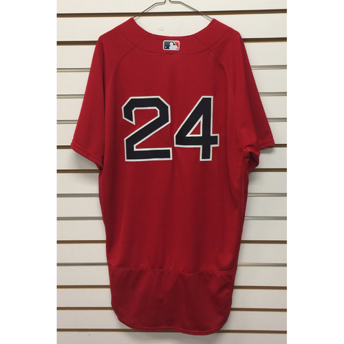 Photo of David Price Team-Issued 2016 Home Alternate Jersey