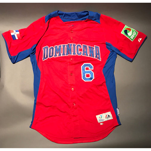 Photo of 2013 World Baseball Classic Jersey - Dominican Republic Road Jersey, Coach Pena #6