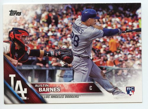 Photo of 2016 Topps Update #US21 Austin Barnes Rookie Card -- Dodgers post-season