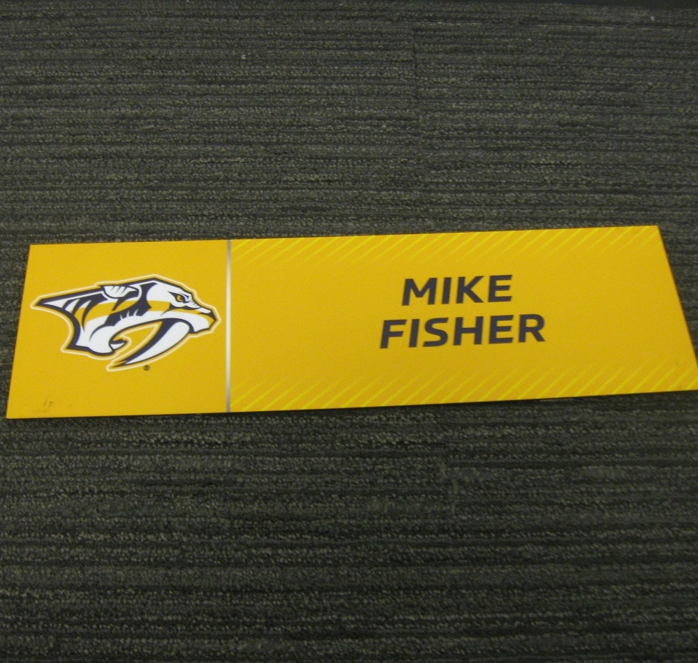 Mike Fisher 2017 Stanley Cup Final Media Name Plate - Nashville Predators