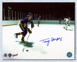 Terry Harper Los Angeles Kings Autographed Action 8x10 Photo