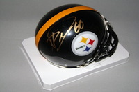 NFL - STEELERS DAVID DECASTRO SIGNED STEELERS MINI HELMET