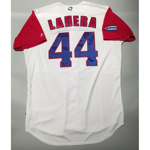 Photo of 2017 WBC: Cuba Game-Used Home Jersey, Lahera #44