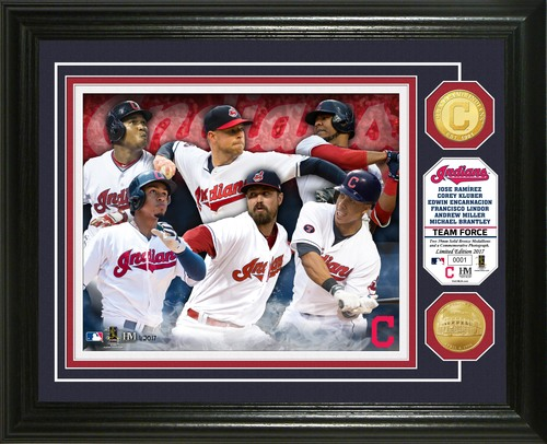 "Photo of Serial #1! Cleveland Indians ""Team Force"" Bronze Coin Photo Mint"