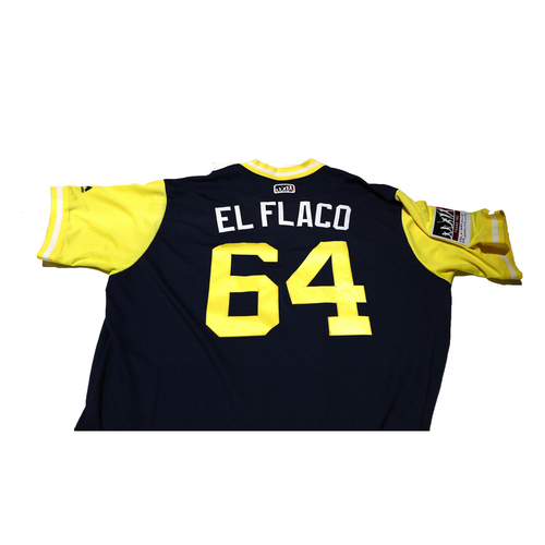 "Photo of Dinelson ""El Flaco"" Lamet San Diego Padres Game-Used Players Weekend Jersey"