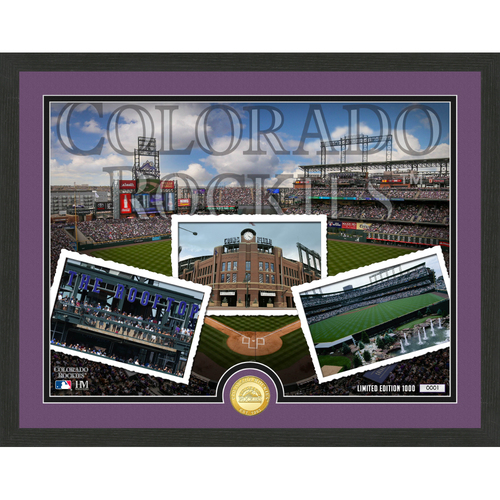 "Photo of Colorado Rockies ""Team Pride"" Bronze Coin Photo Mint - MLB.com Auctions Exclusive"