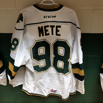 Victor Mete 2016-2017 White Game Jersey