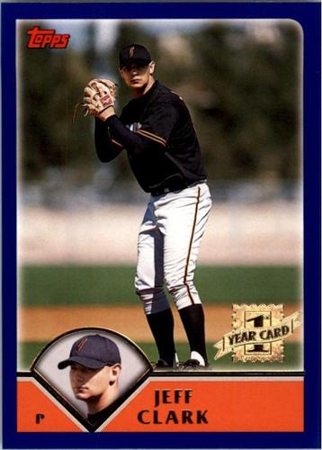 Photo of 2003 Topps #315 Jeff Clark FY RC