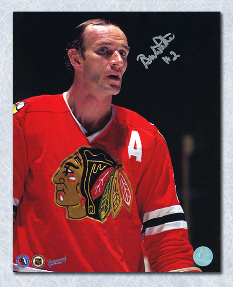 Bill White Chicago Blackhawks Autographed Close-Up 8x10 Photo