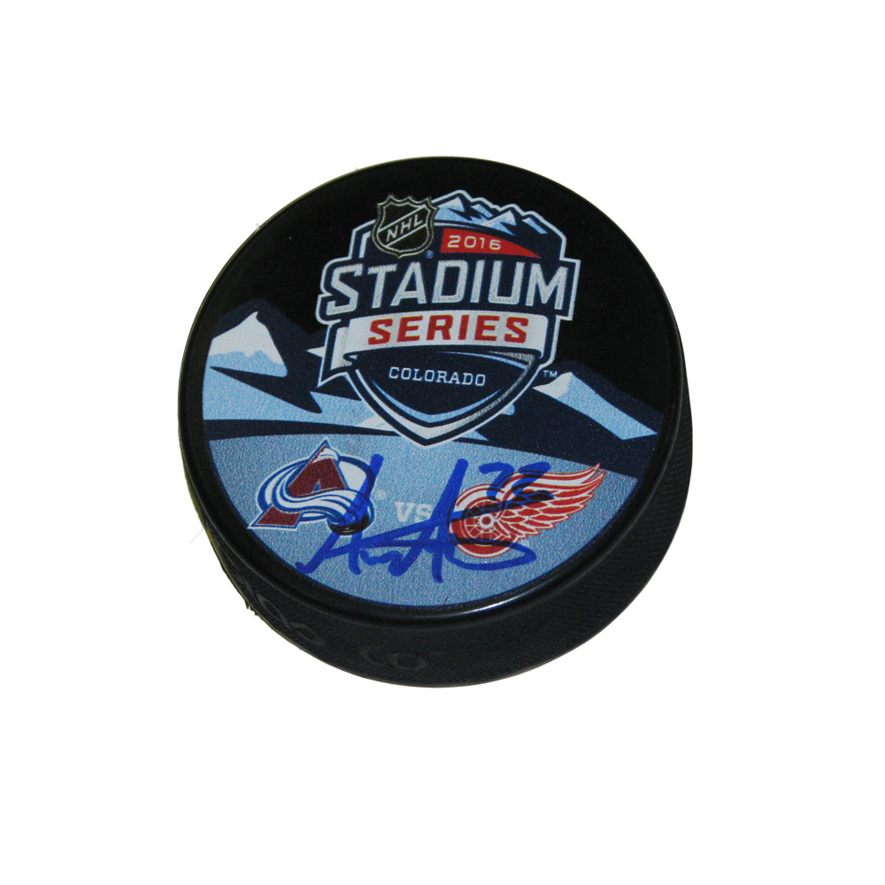 ANDREAS ATHANASIOU Signed Stadium Series 2016 Detroit Red Wings Puck