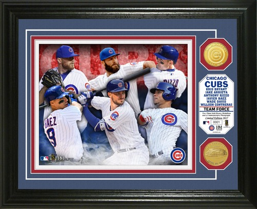 "Photo of Serial #1! Chicago Cubs ""Team Force"" Bronze Coin Photo Mint"