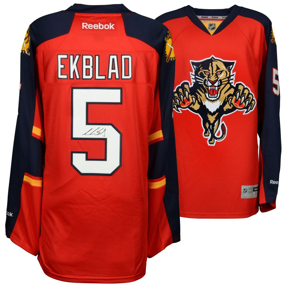 Aaron Ekblad Florida Panthers Autographed Red Reebok Premier Jersey