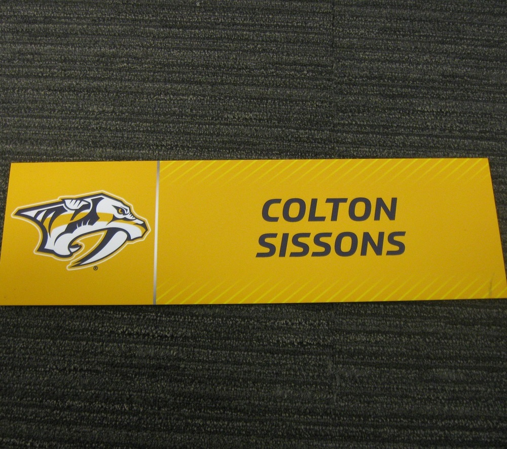 Colton Sissons 2017 Stanley Cup Final Media Name Plate - Nashville Predators