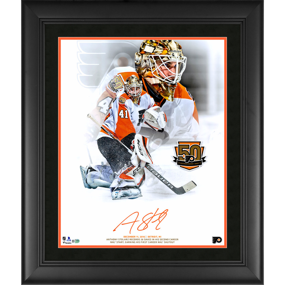 Anthony Stolarz Philadelphia Flyers Framed Autographed 16