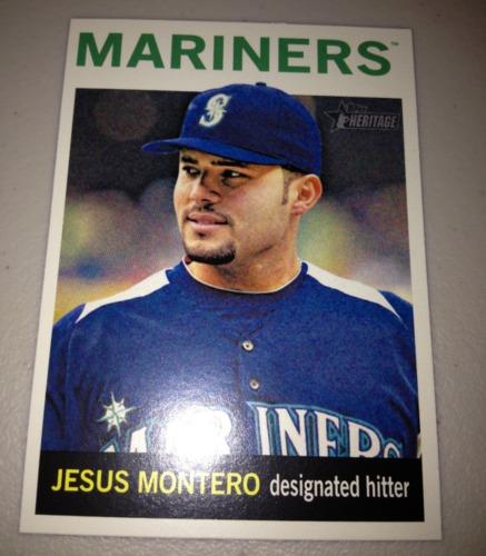 Photo of 2013 Topps Heritage #499 Jesus Montero SP