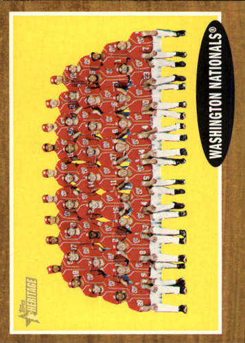 Photo of 2011 Topps Heritage #206 Washington Nationals