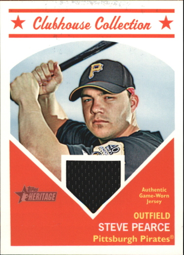 Photo of 2008 Topps Heritage Clubhouse Collection Relics #ST Steve Pearce HN C