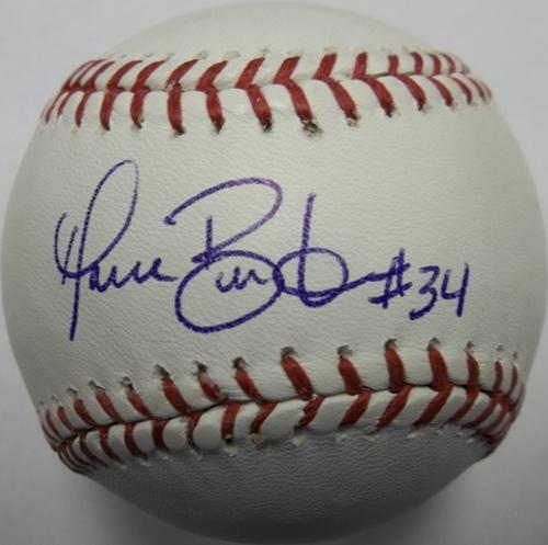 Photo of Dave Burba Autographed Baseball