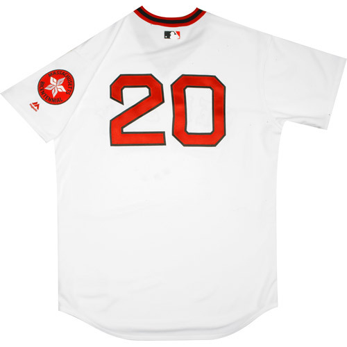 Photo of Boston Red Sox 1975 Throwback Complete Game-Used Uniform Set - Ruben Amaro Jr