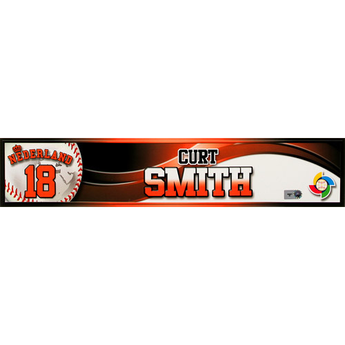 Photo of 2013 World Baseball Classic: Curt Smith (NED) Game-Used Locker Name Plate
