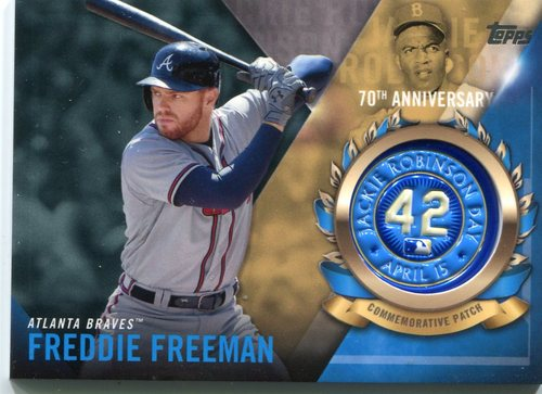 Photo of 2017 Topps Jackie Robinson Logo Patches #JRPCFF Freddie Freeman