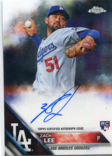 Photo of 2016 Topps Chrome Rookie Autographs #RAZL Zach Lee -- Dodgers post-season