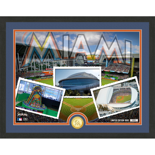 "Photo of Miami Marlins ""Team Pride"" Bronze Coin Photo Mint - MLB.com Auctions Exclusive"