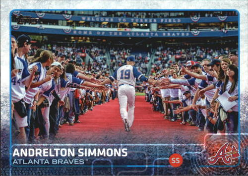 Photo of 2015 Topps #651B Andrelton Simmons/w/fans