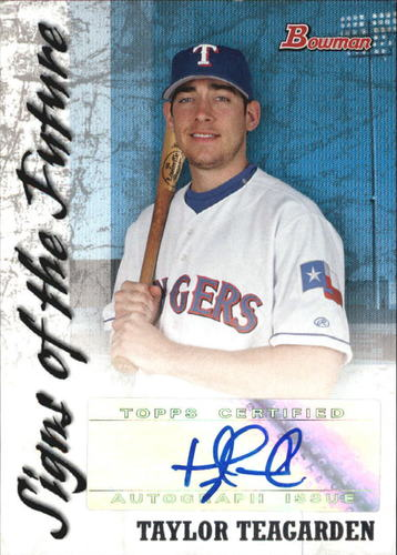 Photo of 2007 Bowman Signs of the Future #TT Taylor Teagarden