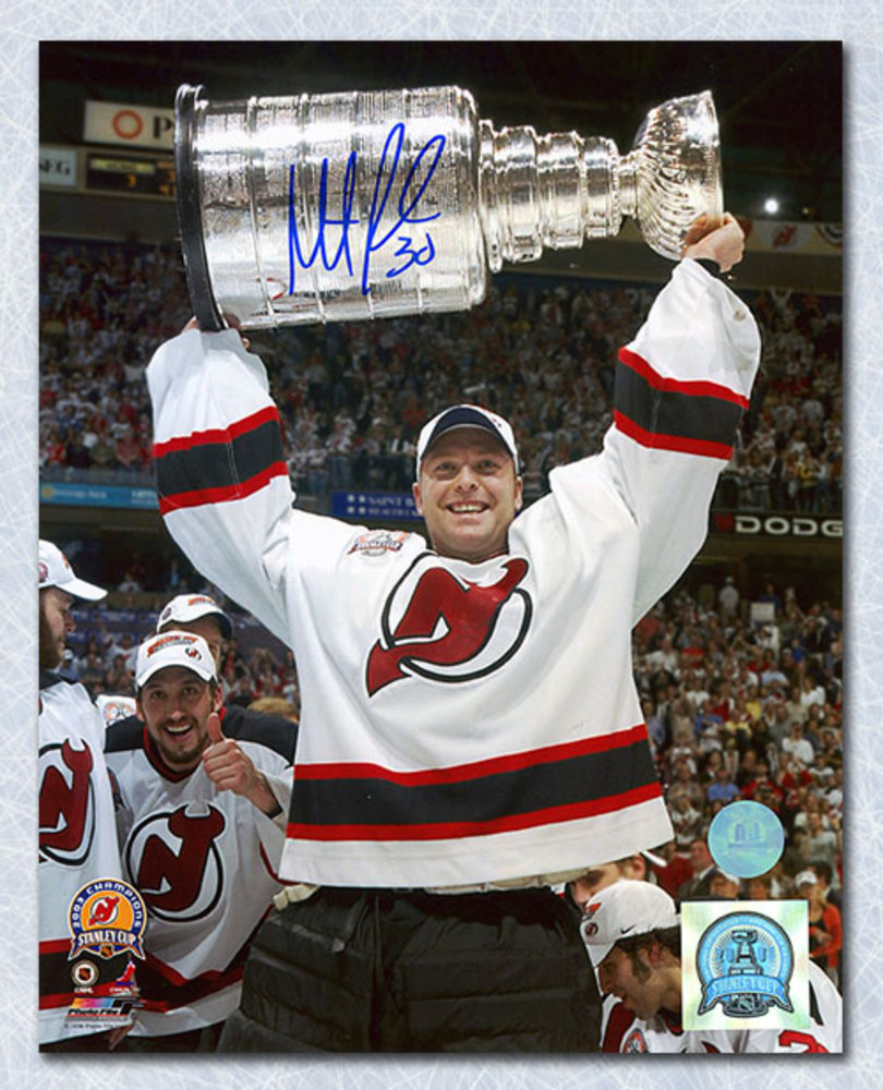 Martin Brodeur New Jersey Devils Autographed 2003 Stanley Cup 8x10 Photo