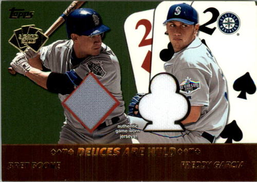 Photo of 2002 Topps 5-Card Stud Deuces are Wild Relics #5DBG Bret Boone Jsy/Freddy Garcia Jsy A