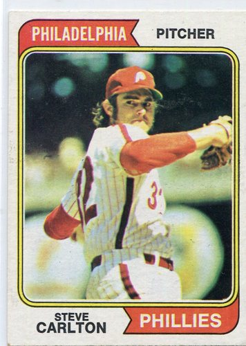 Photo of 1974 Topps #95 Steve Carlton Hall of Famer