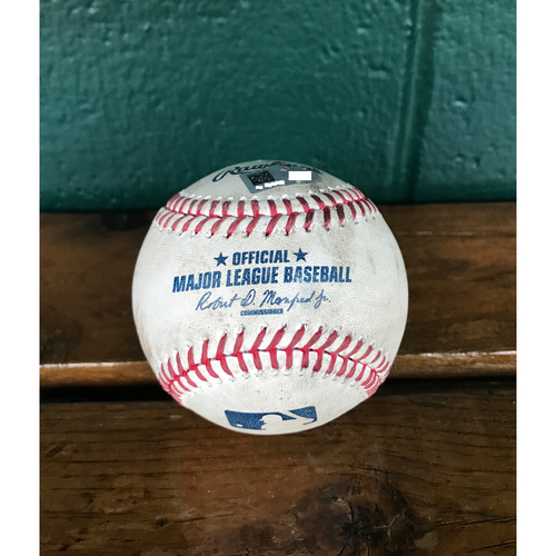 Photo of Cardinals Authentics: Game-Used Baseball Pitched by Carlos Martinez to Chris Coghlan *Strikeout*
