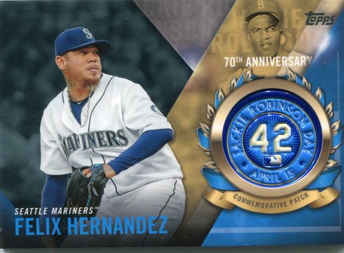 Photo of 2017 Topps Jackie Robinson Logo Patches #JRPCFH Felix Hernandez