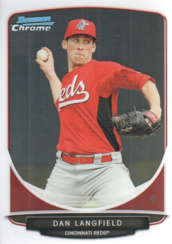 Photo of 2013 Bowman Chrome Prospects #BCP124 Dan Langfield