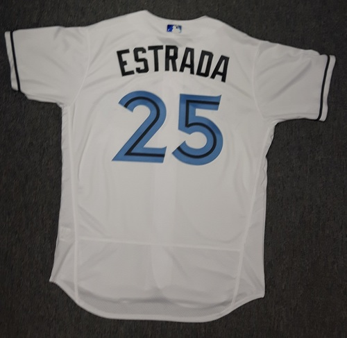 Photo of Authenticated Game Used Father's Day Jersey - #25 Marco Estrada (June 18, 2017)