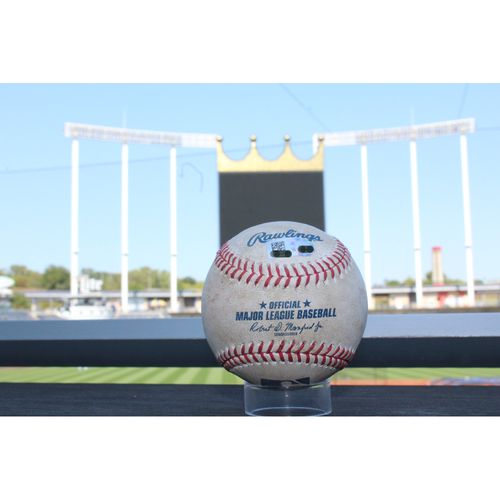 Photo of Game-Used Baseball: Eddie Rosario 344th Career Hit, 145th Career RBI, & 144th Career RBI (MIN at KC - 9/8/17)
