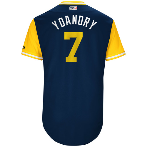 "Photo of Manuel ""Yoandry"" Margot San Diego Padres Game-Used Players Weekend Jersey"
