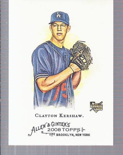 Photo of 2008 Topps Allen and Ginter #72 Clayton Kershaw Rookie Card -- Dodgers post-season
