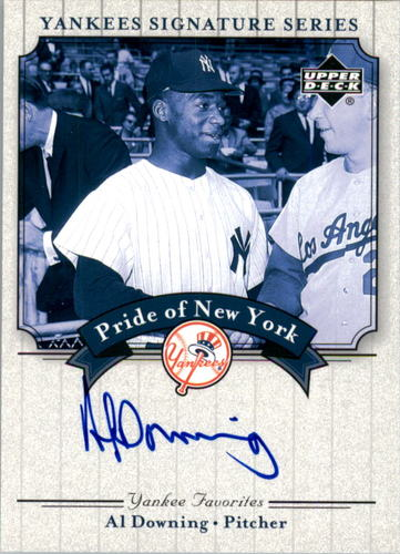 Photo of 2003 Upper Deck Yankees Signature Pride of New York Autographs #AD Al Downing