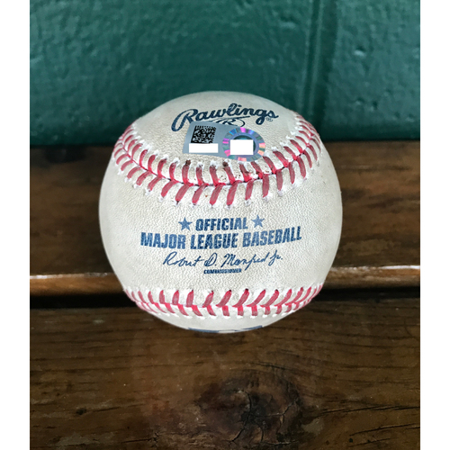 Photo of Cardinals Authentics: Game-Used Baseball Pitched by Carlos Martinez to Ezequiel Carrera *Strikeout*
