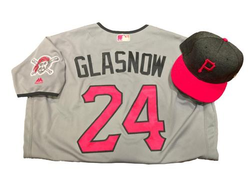 Photo of Tyler Glasnow Game-Used Mother's Day Jersey and Hat