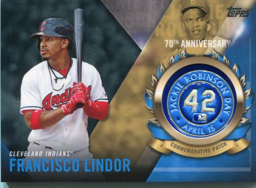 Photo of 2017 Topps Jackie Robinson Logo Patches #JRPCFL Francisco Lindor