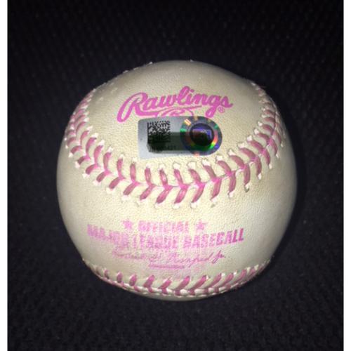 Game-Used Baseball from May 14, 2017