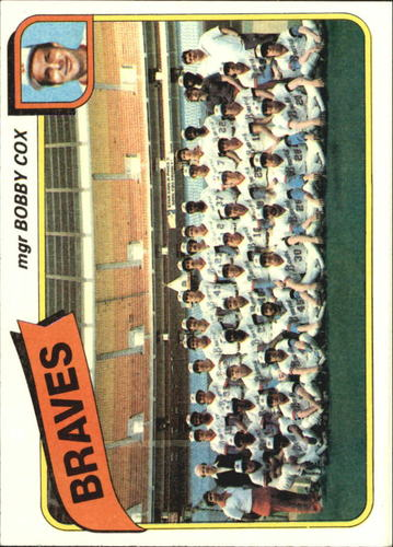 Photo of 1980 Topps #192 Atlanta Braves CL/Bobby Cox MG